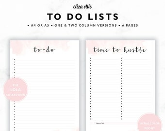 cute printable to do lists