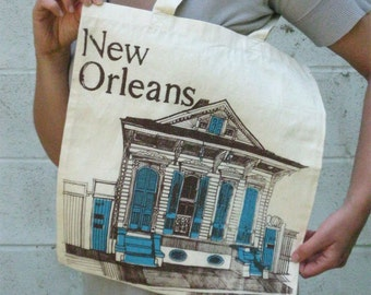Silkscreen Tote Bag New Orleans