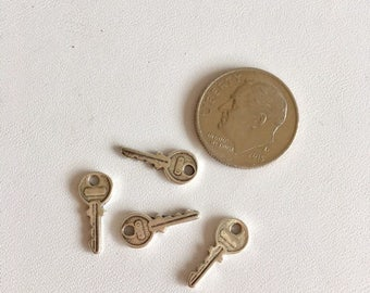 Tiny Key Charms-Sterling Silver Charms