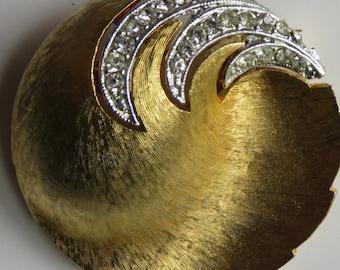 Vintage J.J. Brooch Gold Tone Rhinestone Brooch Vintage J.J. Pin Vintage Jewelry Costume Jewelry Pin Vintage Jewelry J.J. Jewelry Rhinestone