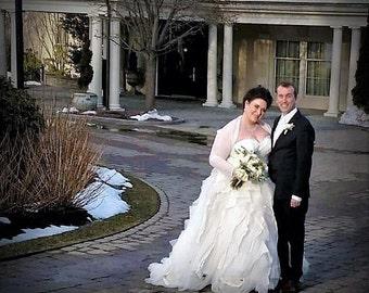 Bridal Cover Up, Bridal Bolero, Wedding Shrug, Bridal Wrap, Sheer Stretchy Mesh Shrug