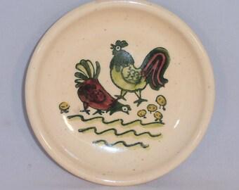 Metlox Coaster Poppytrail Homestead Provincial Coaster 1950s