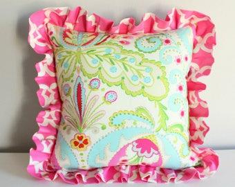 Design yourself pillow. Kumari Custom ruffled Nursery pillow