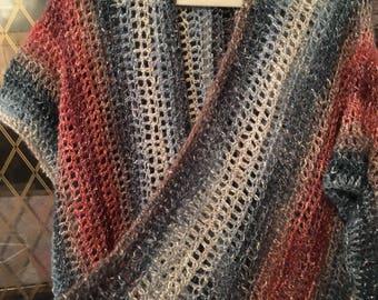 Beautiful crocheted cardigan, lightweight, perfect for nearly every season