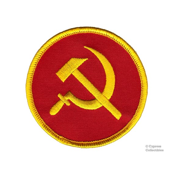 Communist Hammer And Sickle Patch Ussr Cccp Russia Soviet