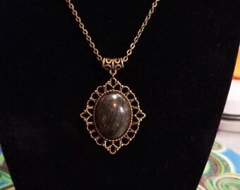 """18"""" Gorgeous Blue Labradorite cabochon necklace"""