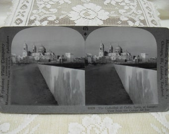 Stereoscope Card: Cathedral of Cadiz