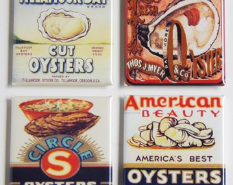 Oysters Fridge Magnet Set