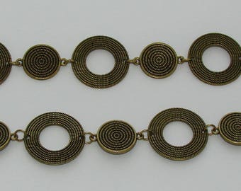 Ref: CB 109 - 50cm chain link circle antique bronze