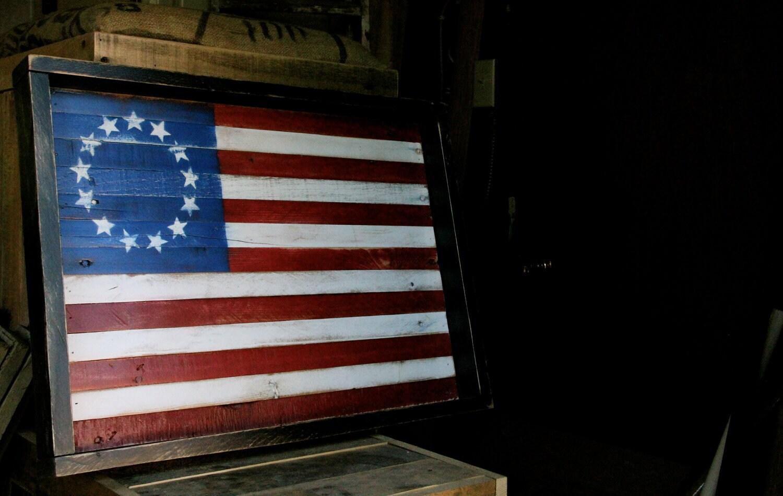 Wooden Wall Art Vintage American Flag Reclaimed