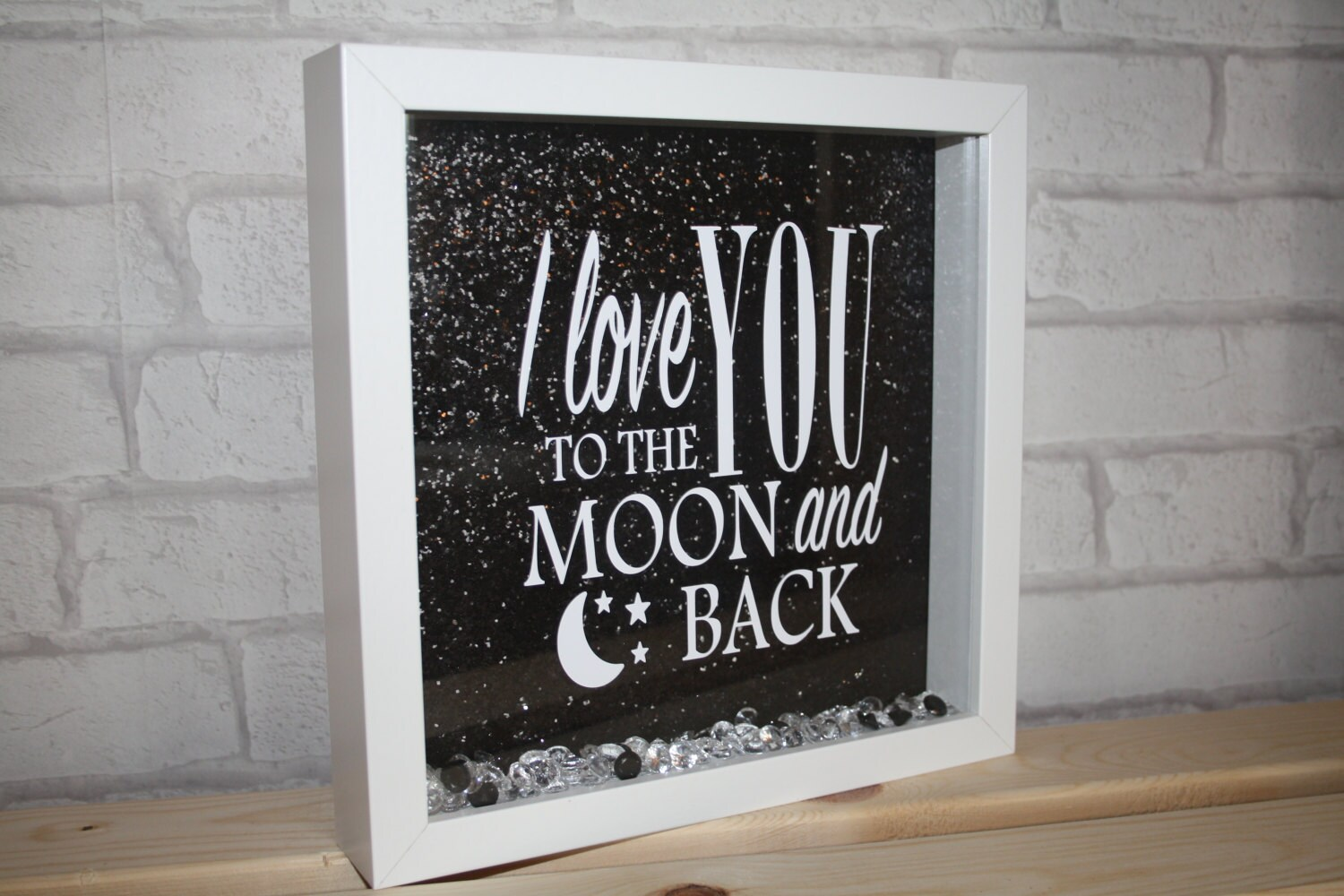 Love Quote Picture Frames I Love You To The Moon And Backquote Box Framemoonandbacki