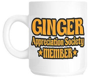 Ginger appreciation society gift mug