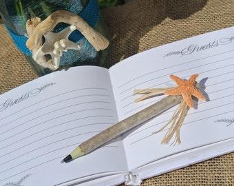 Beach Theme Pen, Branch Pen, Beach Wedding Decor, 1 pen