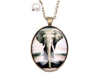 Elephant Necklace, 3040c