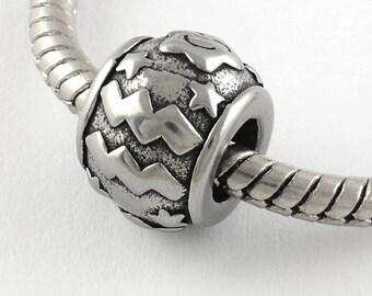 Stainless Steel Aquarius Charms Astrology Charms Horoscope Charms Scorpio European Beads For European Charm Bracelets #14-SB