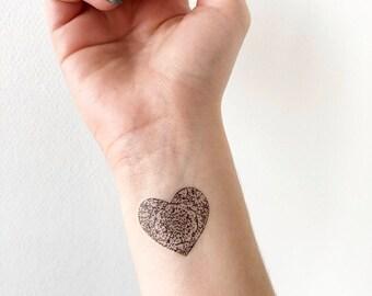 Heart Print - Temporary Tattoo