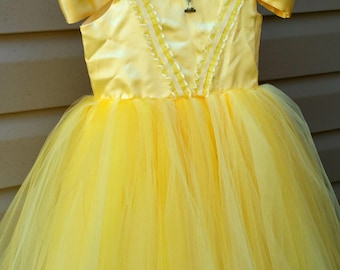 Belle Costume, Beauty and the Beast dress, belle dress, belle costume girls, belle costume toddler, belle costume baby, halloween costume
