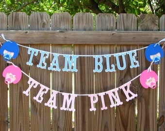 Baby Reveal Banners, Football Theme Gender Reveal, Baby Shower Banners, Pink Or Blue Banner, Maternity Photo Prop
