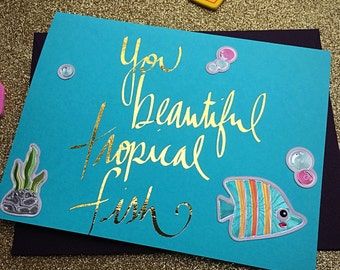 Galentine's Day Card, Leslie Knope, Parks and Rec Tropical Fish BFF Card, Galentine's Day, Valentine's Day