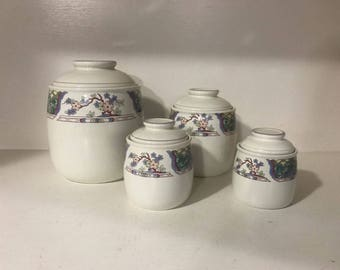 Mikasa Provincial CV900 Villa Medici Kitchen Canister Set of 4