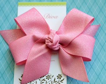 Pink Sherbet Fairy Dust Classic Diva Bow