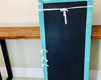 Large Distressed Teal Chalkboard