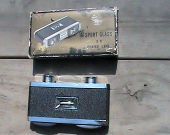 Vintage Sports glasses 3X binoculars, Japan Sportiere original box