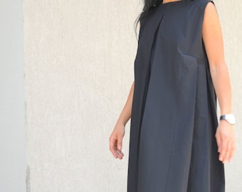 Oversized Dress, Loose Tunic, black loos Dress, Black Midi Dress, Loose Black Dress, Tunic Dress, Oversize Tunic, Summer Dress, Pocket dress