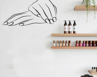 Wall Decal Nail Salon Art Beauty Salon Nail Stylist Nail Art Polish Manicure Woman Gift 1296t