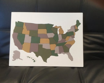Wooden Puzzle of the United States