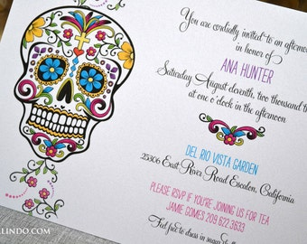 DIY Printable Day of the Dead Invitation digital file