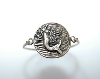 Mermaid Tension Bracelet in Sterling Silver
