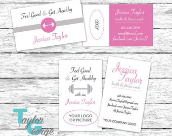 Fitness Coach Business Card - Personal Trainer Business Card - Health Coach Business Card - Wellness Coach Card - Custom Business Card - Gym