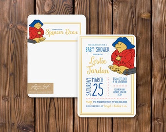 Paddington Bear Baby Shower Invitation