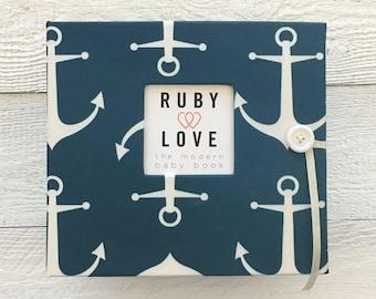 BABY BOOK | Navy Sailor Anchors Album
