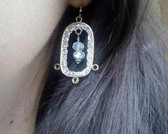 Gold Coral Earrings, Golden Vintage Earrings, Classic Jewelry, Mayan Jewelry, Elegant Earrings, Bohemian Jewelry, Honduras, Gift for her