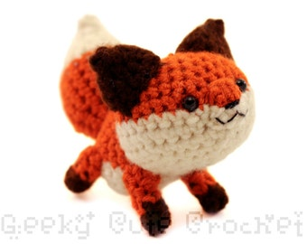 Red Fox Plush Toy Animal Stuffie Amigurumi Crochet