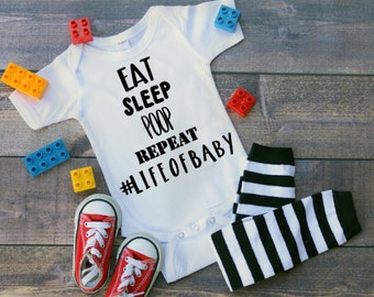 life of a baby baby bodysuit, personalized baby gift, baby shower gift, funny baby gift, for new baby, for baby boy, for baby girl, for dad