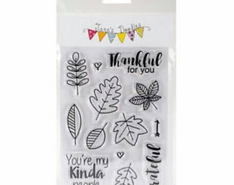 "Jane's Doodles ~Thankful~ 4"" x 6"" Clear Stamp Set"