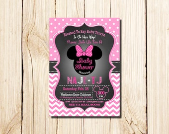 Minnie mouse baby shower invitations printable minnie mouse minnie mouse baby shower invitation minnie mouse baby shower baby girl minnie minnie mouse baby shower invites pink filmwisefo