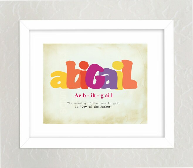 Customized baby name art print meaning of name childrens zoom negle Images
