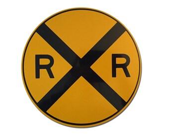 "Reflective Railroad Crossing Sign 12"""