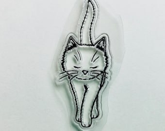 New -for Rubber Stamping, Scrapbooking & Handmade Cards 1 Clear Acrylic Stamp Cat #55