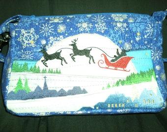 pures, Christmas, embroidered, Santa, reindeer