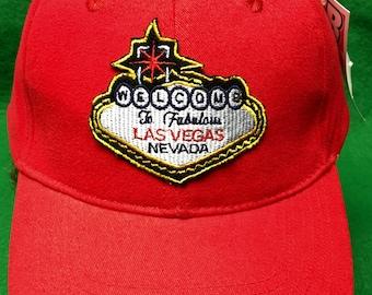Handmade Welcome To Fabulous Las Vegas Nevada Adjustable Hook and Loop Cap