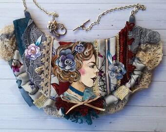 Elegant necklace made in fabric  Sogno di primavera