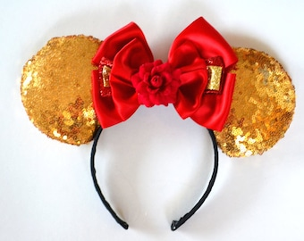 Gold Princess Sequin Mouse Ears