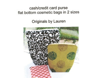 PDF Pattern Zippered Pouches in 3 Sizes  Tutorial