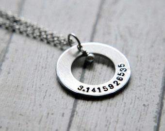 Pi Necklace - Math Jewelry - Math Teacher Gift - Science Jewelry - Science Necklace - Math Necklace - Nerd Jewelry - Gift for Best Friend
