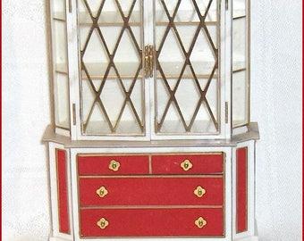 Treasure Trove Cabinet Ornate  Ideal Petite Princess Dollhouse Furniture